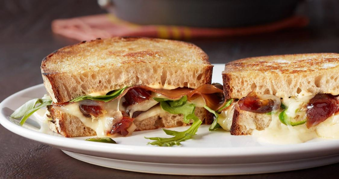 Spicy Grilled Cheese with Medjool Dates, Prosciutto, Arugula & Serrano chilies