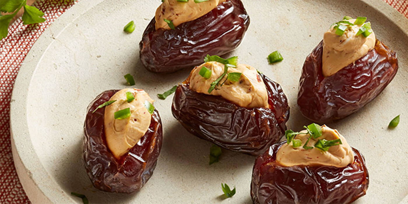Spicy Jalapeño and Chipotle Cheese Stuffed Medjool Dates